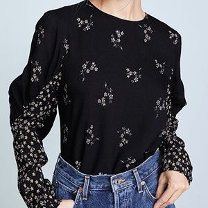 ISO Tibi Lila Floral Florence Top